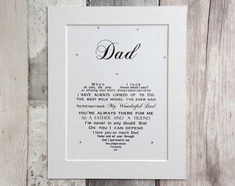 Dad Gift Personalized Birthday For Father Daughter Son From