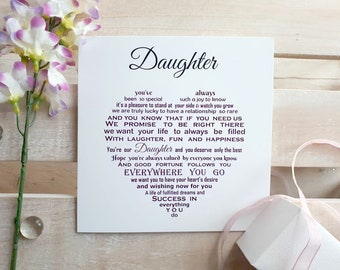 Daughter Card Unique Birthday Mother Father Easter For