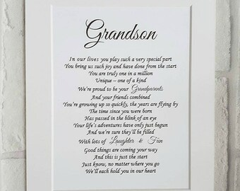 Grandson Gift Birthday Grandparents To Grandchild Personalised Christmas Personalized For