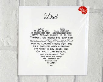 Dad Birthday Card For Father Daughter Son