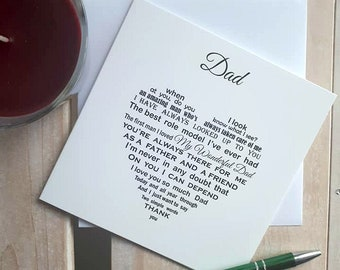 Fathers Day Card Dad Birthday For Father Daughter Son