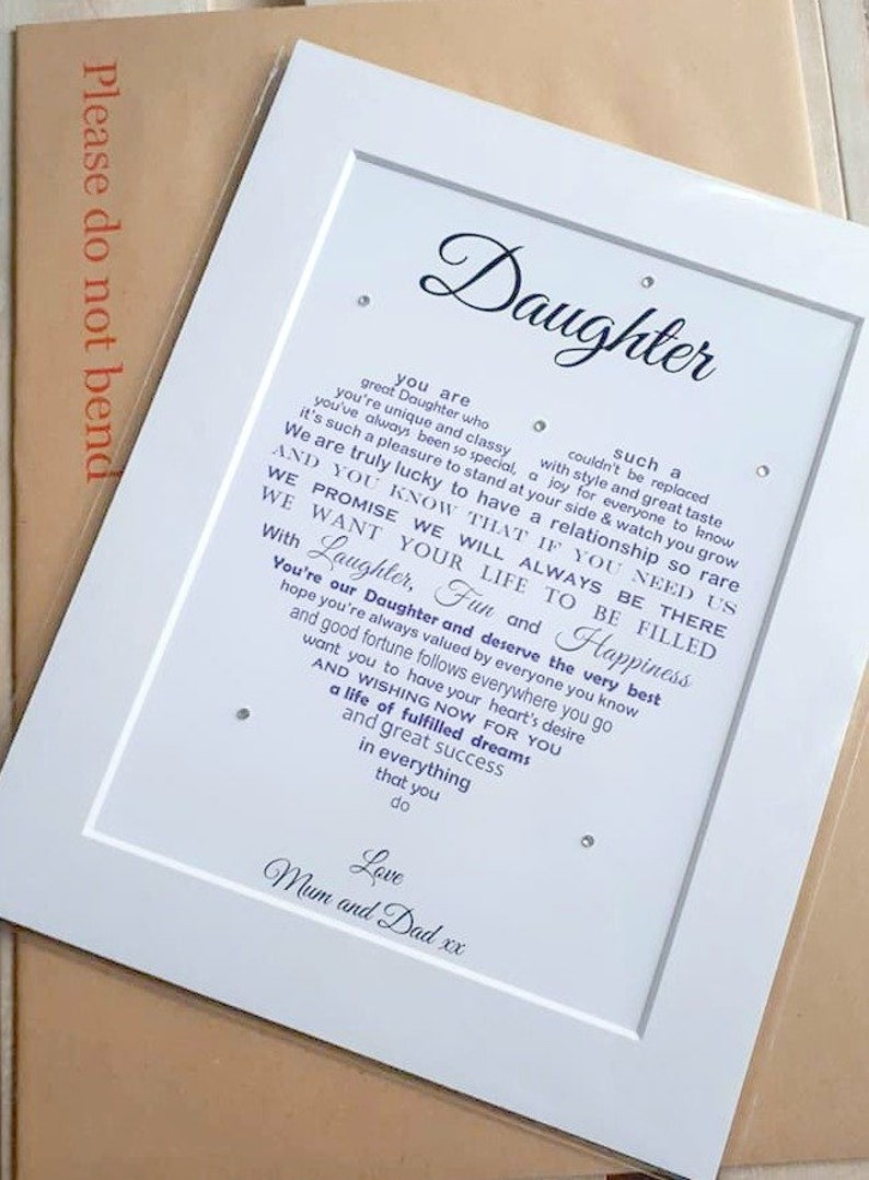 Personalised Daughter Gift Unique Birthday