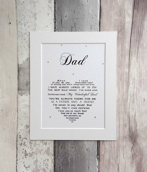 Dad Gift Personalized Birthday For