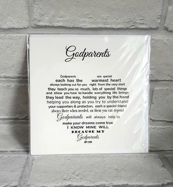 Godparents Christmas Card Card For Godparents Thank You Etsy