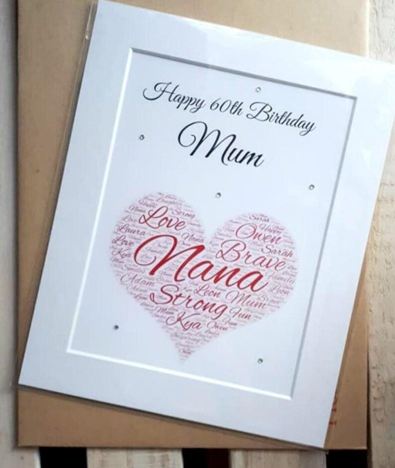 Personalised Word Art Gift For Mum Birthday Mom