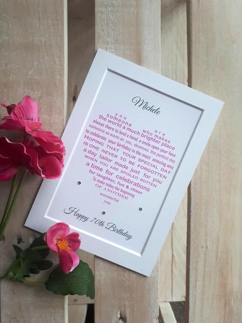 Free Gift Box Various designs Friend  Poem Personalised Coaster