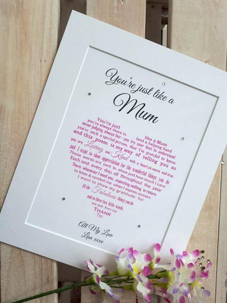 Step Mum Birthday Gift Stepmum Gift Step Mom of Bride Step Add Mount & Gems