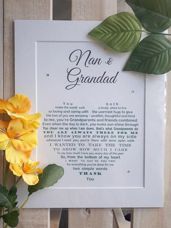Großeltern Geschenk Unframed Geschenke Für Großeltern Nan Und Opa Geschenk Großeltern Geschenk Geschenk Nan Geschenk Opa Großeltern Geschenk