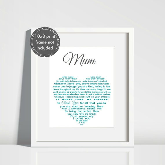 Personalised Gift For Mum Mothers Day Personalized