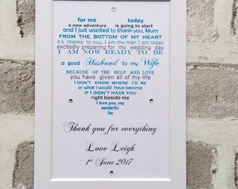 Mother of the Groom gift from son, Mother of groom, Wedding gift parents, Mother Wedding gift from Groom, Wedding gift for Mom from son