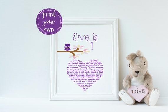1st Birthday Keepsake Printable First Gift