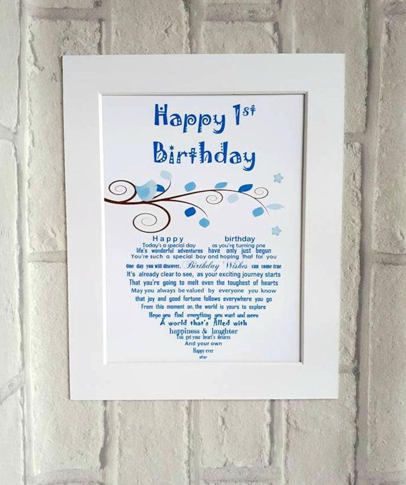 1st Birthday Baby Boy Babys First Birthday Gift