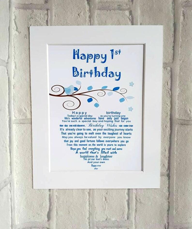 1st Birthday Baby Boy Babys First Gift