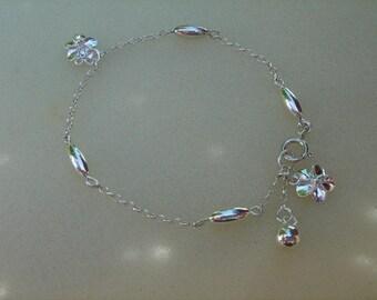 925 silver bracelet in floral design!