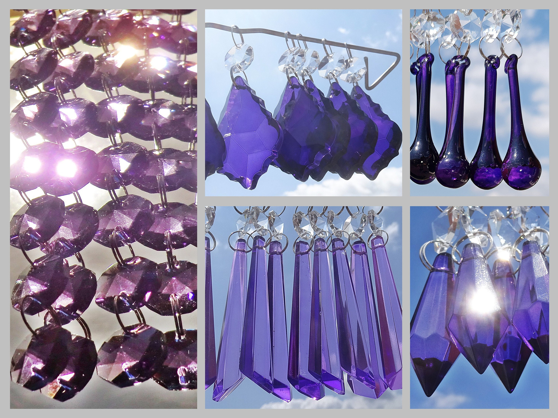 Seasonal Decorations Purple Christmas Tree Decorations Glass Drops Crystals Chandelier Beads Droplets Home Furniture Diy Tohoku Morinagamilk Co Jp
