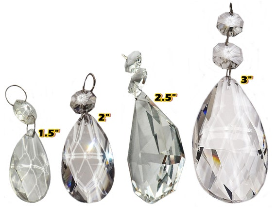 4 Types Of Almond Drops 1 5 To 3 Prisms, Chandelier Glass Drops Parts