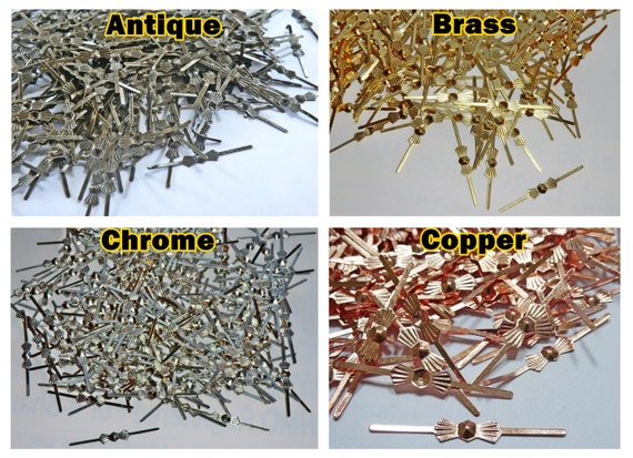 250 Copper Finish Bow Tie Clasps Antique Look Metal Chandelier Light Links for Making Chains of Crystals for Crafts Beading Copper