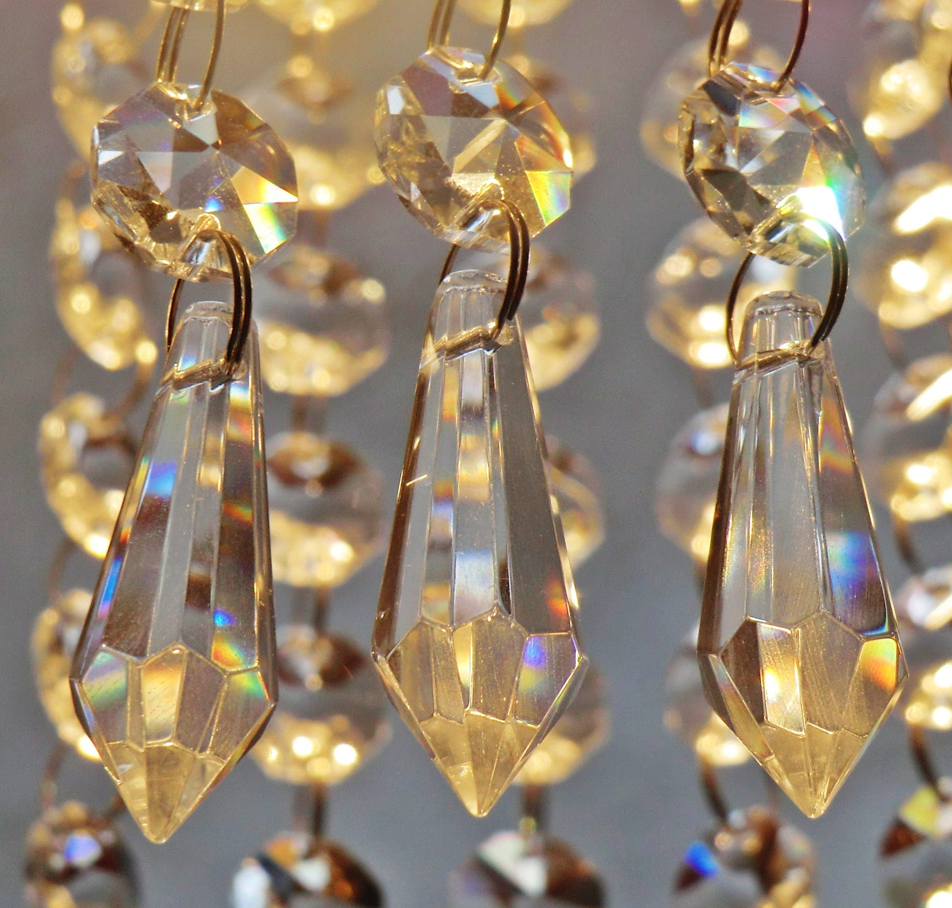 24 chandelier drops parts glass xl prisms crystals shabby droplets gallery photo gallery photo mozeypictures Choice Image