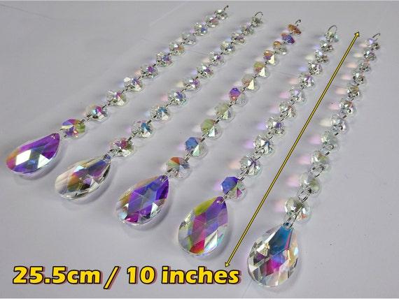 Kronleuchter Glaskristalle ~ Xxl girlande ab aurora borealis kronleuchter tropfen glas etsy