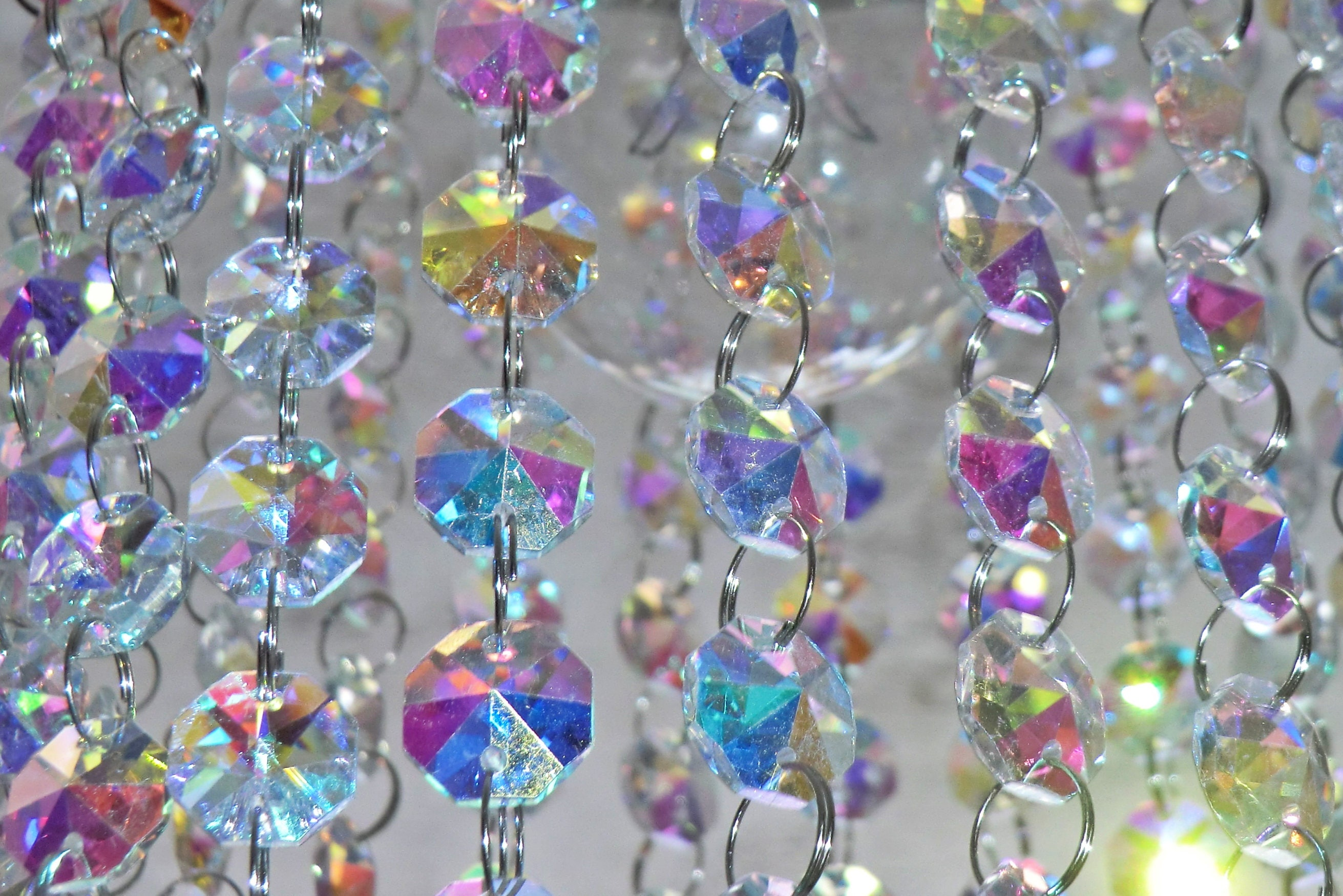 Mm Octagon Aurora Borealis AB Chandelier Drops Glass Crystals - Chandelier crystals for crafts