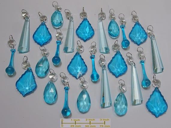 Kronleuchter Glaskristalle ~ Petrol aqua türkis kronleuchter tropfen glas kristalle etsy