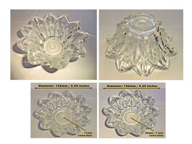Antiques Antique Furniture CHANDELIER BOBECHE DISH GLASS DRIP TRAY BOWL ANTIQUE LOOK CRYSTALS DROPLET DROPS