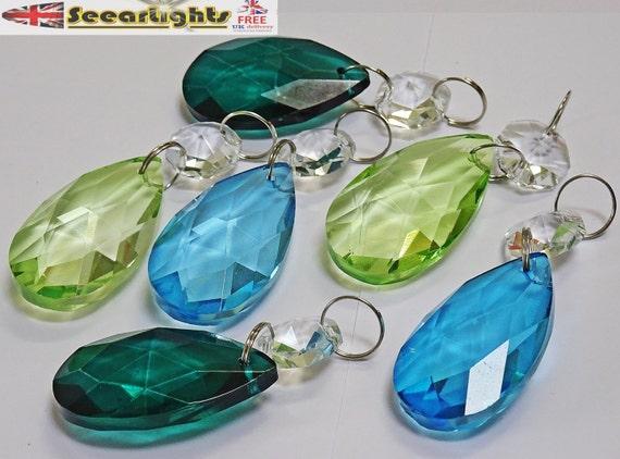 Kronleuchter Glaskristalle ~ Kronleuchter tropfen glas kristalle tropfen prismen oval etsy