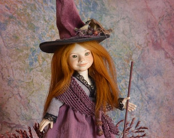 Witch doll witch sculpture fantasy doll porcelain doll witch figurine handmade doll witch decoration witch art dolls LIMITED EDITION