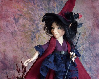Witch doll porcelain dolls witch dolls art dolls collectable dolls art doll witch decoration witch art dolls LIMITED EDITION