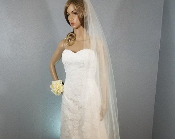 Bridal Ballet Veil, Ivory Wedding Vale, Plain Viel, Long Vail, Short Veil, Colored Veil,  White Veil, Pink Veil, Black Veil, Blue Veil
