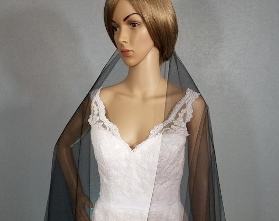 Black Bridal Veil, Cathedral Vail, Drop Blusher Vale, One Layer Viel, Long Veil, Short Vail, Colored Veil, White Veil, Ivory Veil,Green Veil