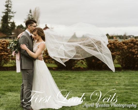 Wedding Veil, Bridal Vail, Ballet Vale, 30 inch Drop Veil, Long Veil, Short Veil, White Veil, Ivory Veil, Black Veil,Pink Veil, Blue Veil