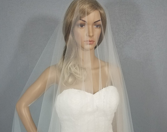 Wedding Veil, Bridal Vail, Ivory Ballet Vale, 30 inch Drop Veil, Long Veil, Short Veil, White Veil, Ivory Veil, Black Veil,Pink Veil, Veil