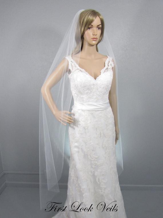 White Bridal Veil, Wedding Veil Ballet, One Layer Plain Viel, Wedding Vail, Long Wedding Veil, Bridal Accessory, White Veil, Ivory Veil