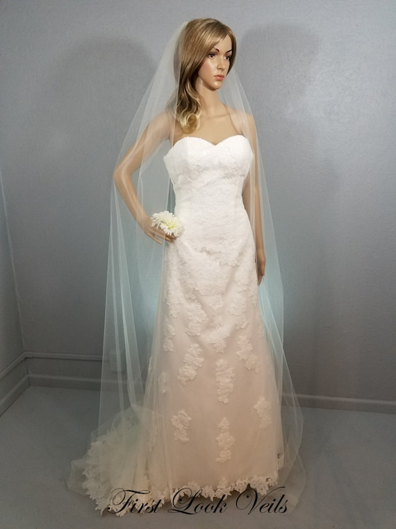 Ivory Veil, Cathedral Vail,Bridal Vale, Long Veil, Floor Length Veil, Simple Veil, Soft Veil, Short Veil,Tulle Veil, Chapel Vale, Elbow Vail