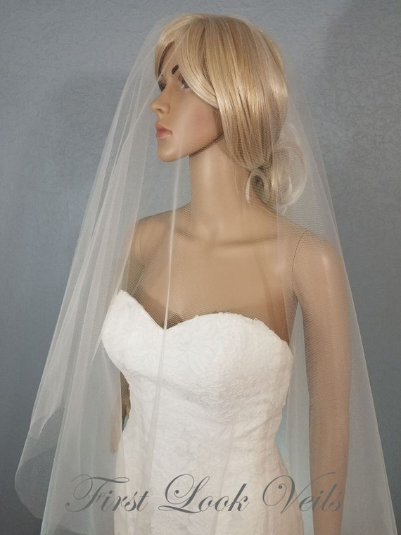Wedding Veil, Bridal Veil, Fingertip Veil, Champagne Veil, Drop Veil, Handmade, Bride, Accessory, Pink Veil, Blue Veil, Blush Veil, Vail