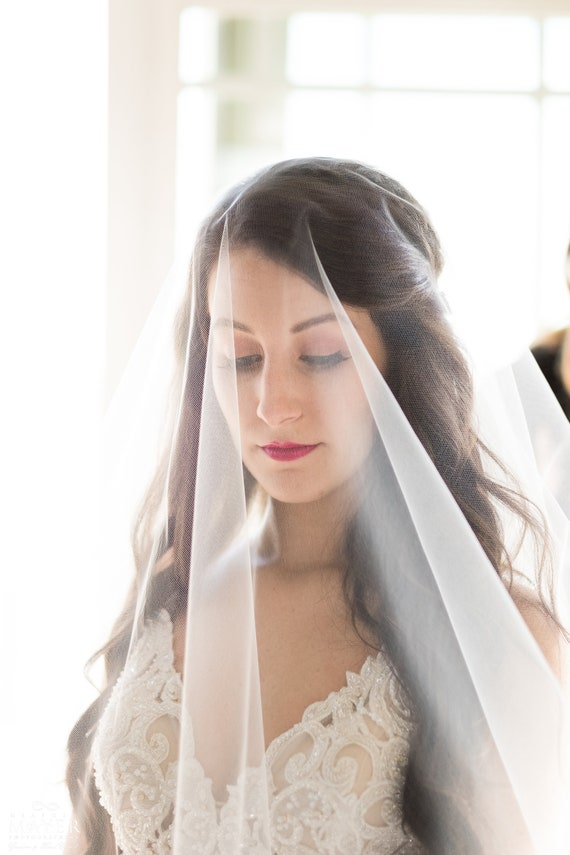 Cathedral Veil, Drop Vail, Wedding Vale, Bridal Veil, Colored Veil, White Veil, Ivory Veil, Pink Veil, Black Veil, Long Veil, Short Veil