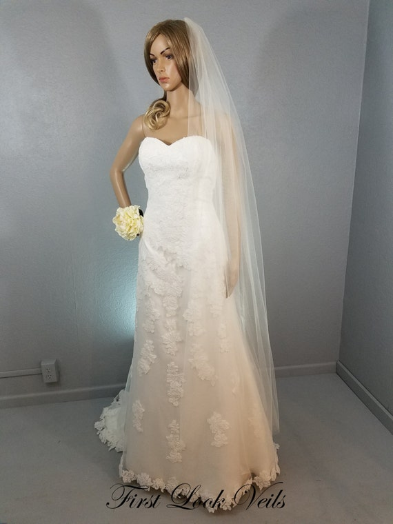 Bridal Ballet Veil Ivory Wedding Vale Plain Viel Long Vail