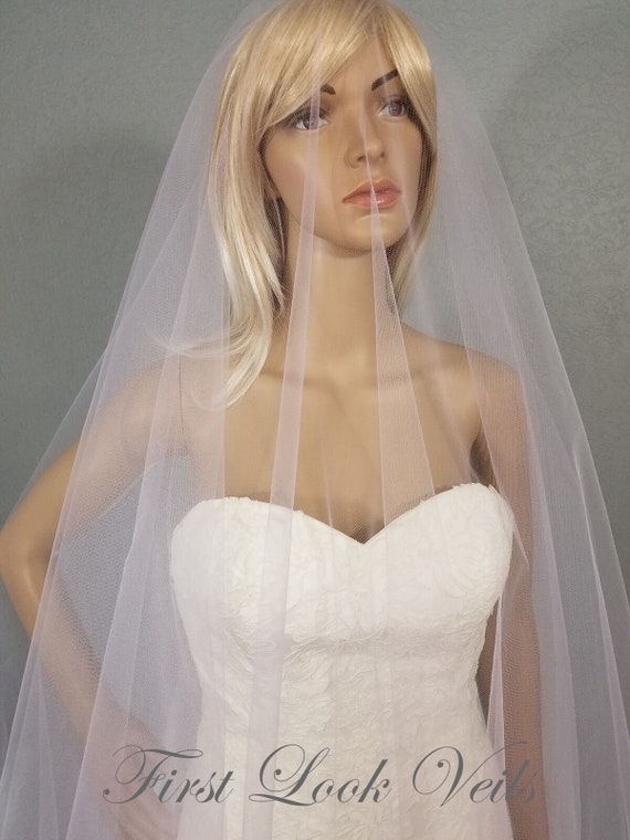 Wedding Veil, Bridal Veil, Cathedral Veil, Lavender Veil, Drop Veil, Handmade, Bride, Accessory, White Veil, Pink Veil, Blue Veil, Long Veil