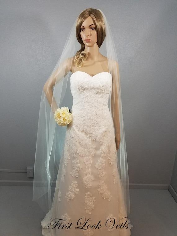Wedding Veil, Bridal Vale, Long Vail, White Veil, Ivory Veil, Ballet Length, Short Veil, Colored Veil, Black Veil, White Veil, Champagne
