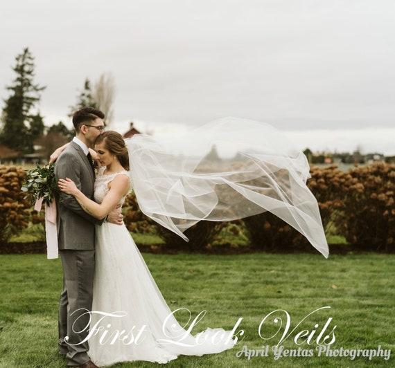 Wedding Veil, Bridal Veil, Ballet Veil, Drop Veil, Drop Veil, Handmade, Bride, Accessory, Diamond White Veil, White Veil, Ivory Veil