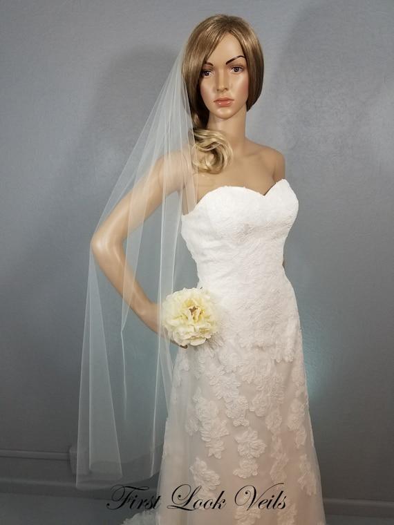 Ivory Waltz Veil, Bridal Vail, Wedding Vale, Long, Veil, Short Veil, Colored Veil, White Veil, Pink Veil, Blue Veil, Champagne, Black Veil