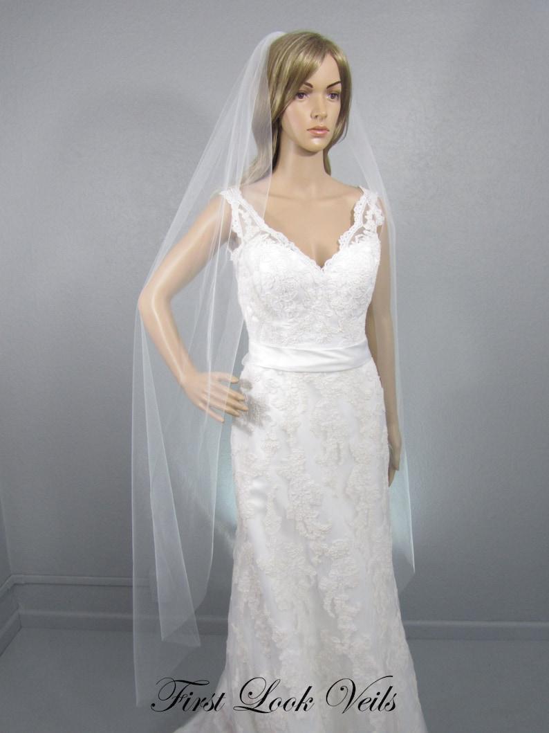 Ballet Veil Wedding Vale White Bridal Vail One Layer Veil image 0