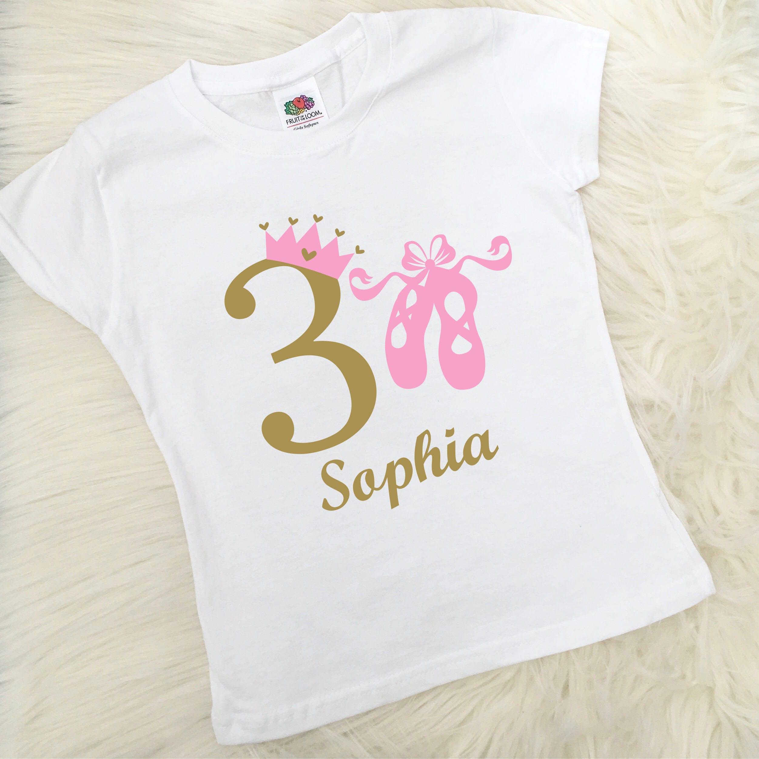 2724b9039ae5 Personalised Ballet Princess Birthday T-Shirt