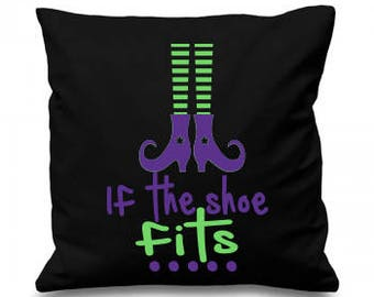 Witch Cushion, Halloween Cushion, Scatter Cushion, Shoe Cushion, Black Cushion, UK