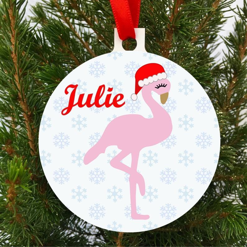 new styles 028e0 9f228 Personalised Flamingo Christmas Tree Decoration, Ornament, Baulble,  Flamingo Decoration, UK