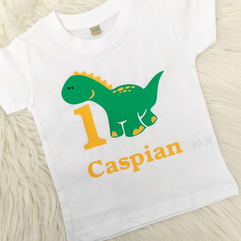 9d89409b2 Personalised Dinosaur Birthday Age T-Shirt | Etsy