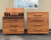 Mid Century Modern - Art Deco Secretary desk dresser by Conant Ball (shipping not free-please read details)