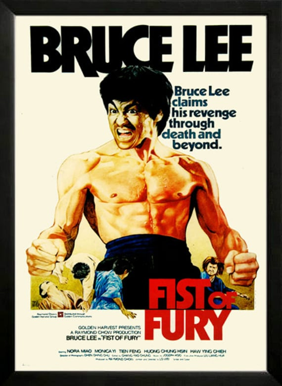 bruce lee fist of fury movie poster framed a quality Jackie Chan Fist of Fury