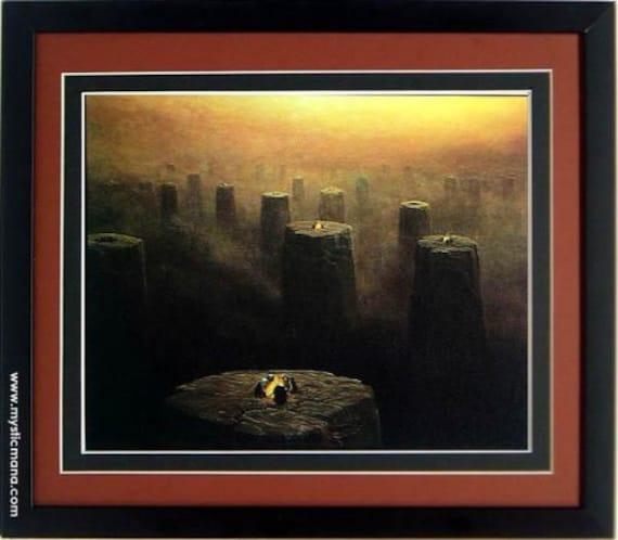 Framed Beksinski Art Poster Valley of Death 14x20
